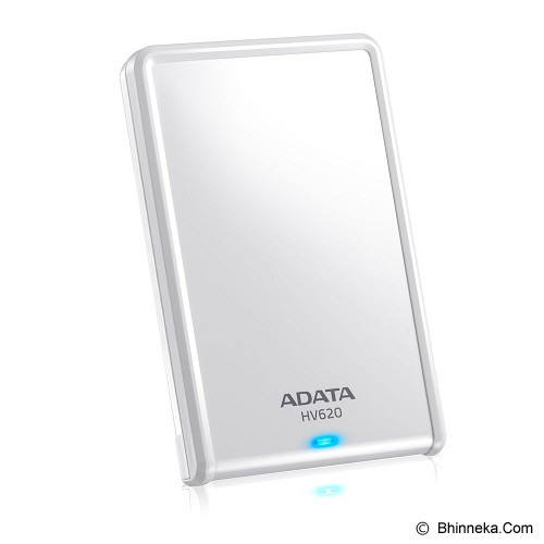 ADATA External Hard Drive 500GB [HV620] - White - Hard Disk External 2.5 Inch